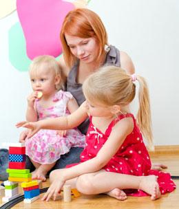 garde enfant a domicile
